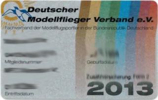 DMFV Mitgliedsausweis