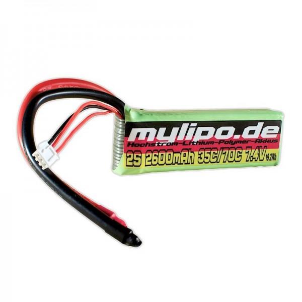 mylipo 2S 2600mAh (Kabel) 35C/70C