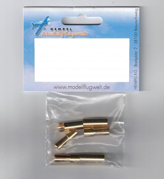 5,5mm Gold Stecker und Buchse je 3 Stk