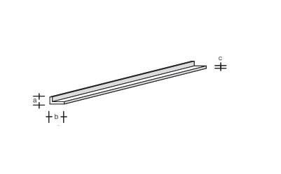 Plastik-L-Profil 330x6,0x3,0