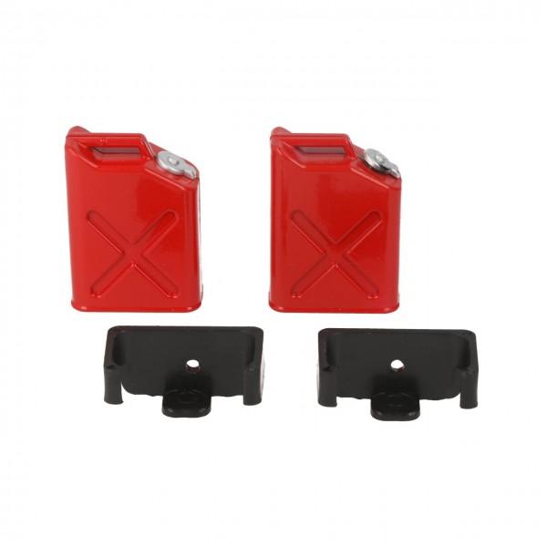 Benzinkanister mit Halterung (2 Stück)