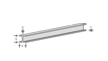Plastik-H-Profil 330x3,0x3,0