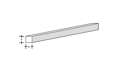 Plastikprofil-4kant. 330x3,0x3,0