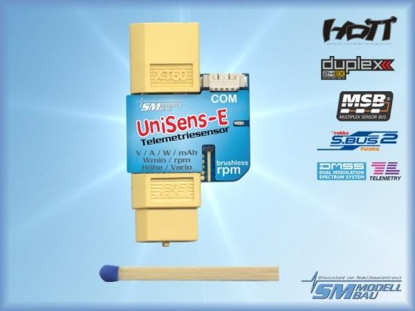 UniSens-E mit XT60 Stecker