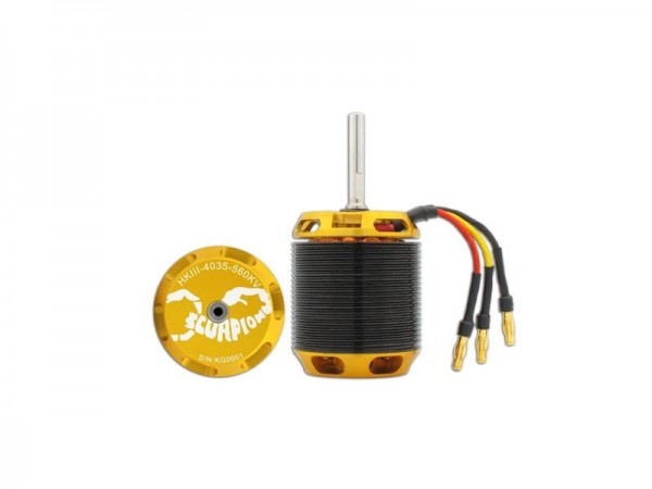 HKIII-4035-560KV Scorpion Motor (6mm Welle)