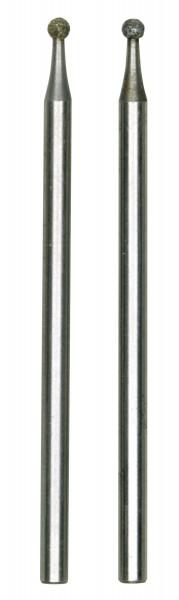 Diamantschleifstifte, Kugel, 1,8 mm, 2 Stück
