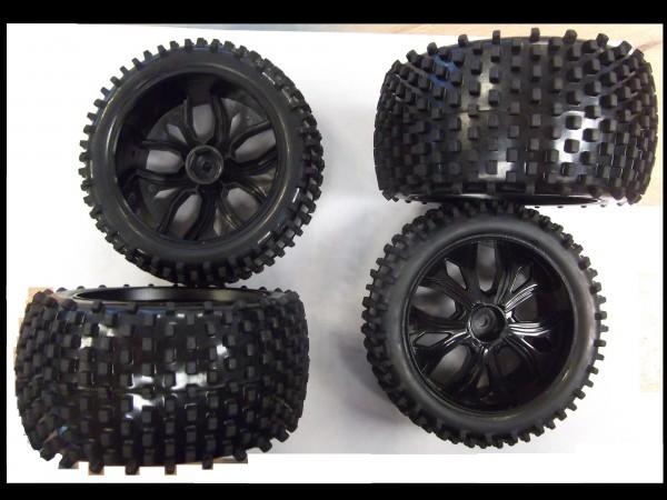 Radsatz mit Kunststofffelgen