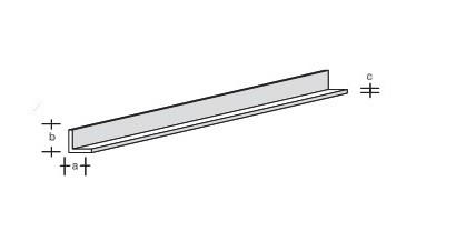 Plastik-L-Profil 330x2,0x2,0
