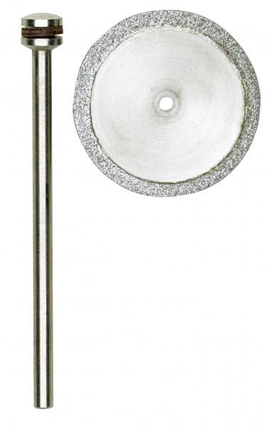 Diamantierte Trennscheibe, 20 mm + 1 Träger