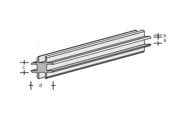 Plastik-Kreuzverbinder-Profil 330x1,0