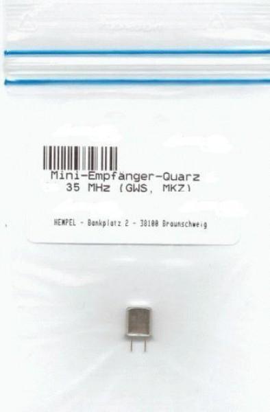 Mini-Empfänger-Quarz K 73 35 MHz (GWS, MKZ)