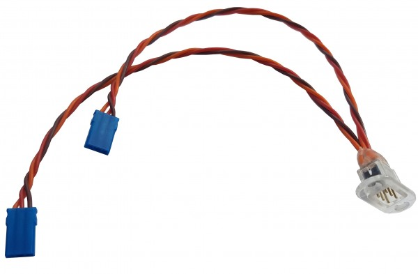Tragflächenanschluss für JR-Stecker, 0,14 mm Silic