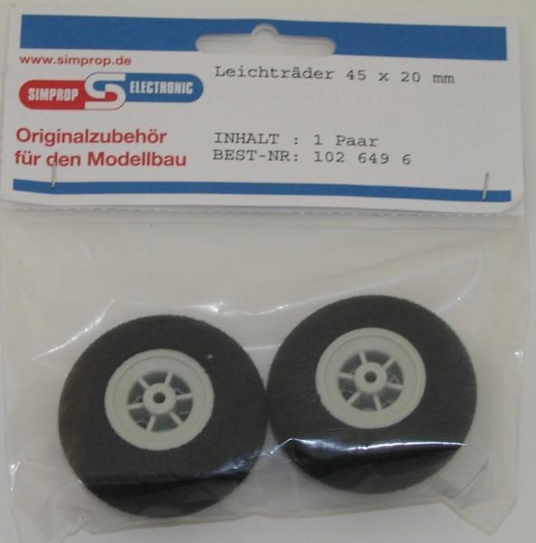 Moosgummi Räder 2 Stück 45mm grau/weiß