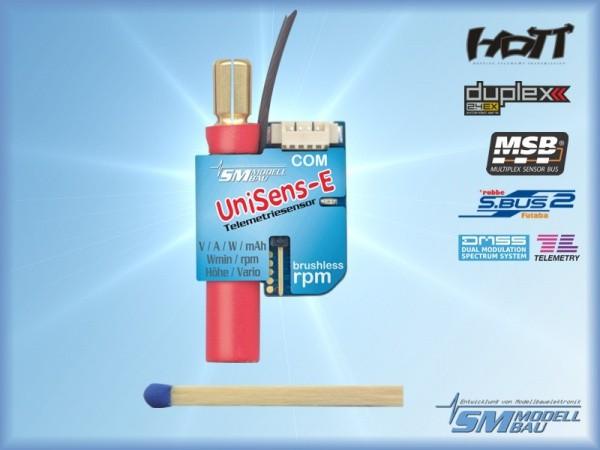 UniSens-E mit 6 mm LMT Goldstecker