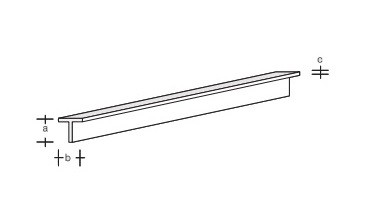Plastik-T-Profil 330x3,5x3,5