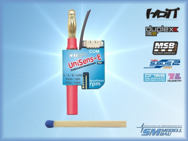 UniSens-E mit 4 mm Goldstecker