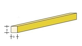 Messing-4kant 330x2.0x2.0