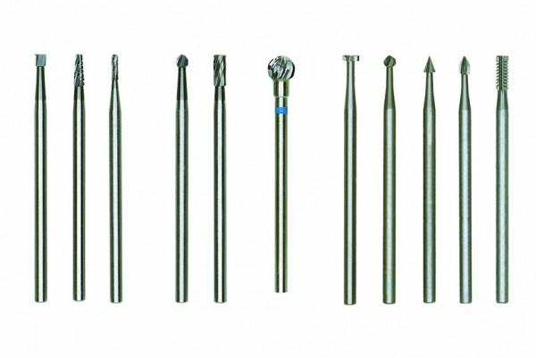 Hartmetall-Fräsersatz, 2-tlg.(Zylinder und Kugel)