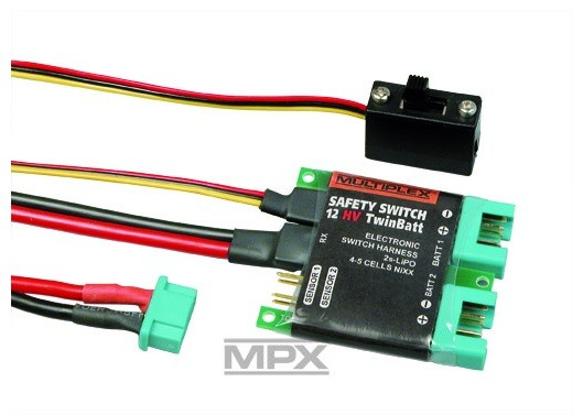 SAFETY-SWITCH 12HV Twin Batt (M6), Multiplex