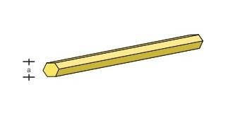 Messing-6kant-Profil 330x3,5