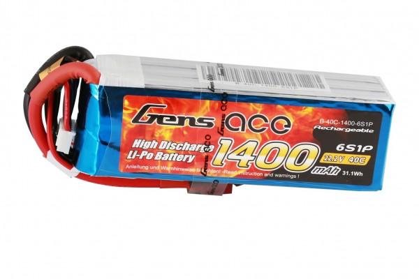 Gens ace 6S 1400mAh (Deans) 40C
