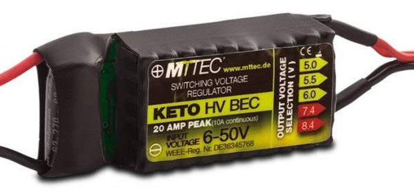 Keto HV BEC 12s 10A/20A Peak V2