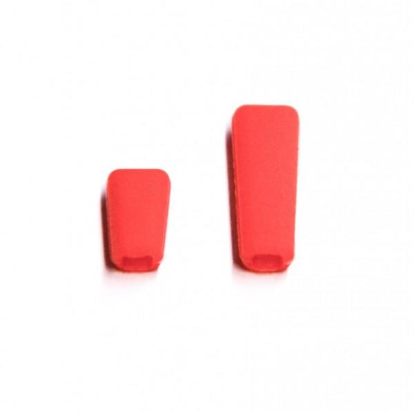 Schalterkappen aus Silikon rot (1x kurz, 1x lang)