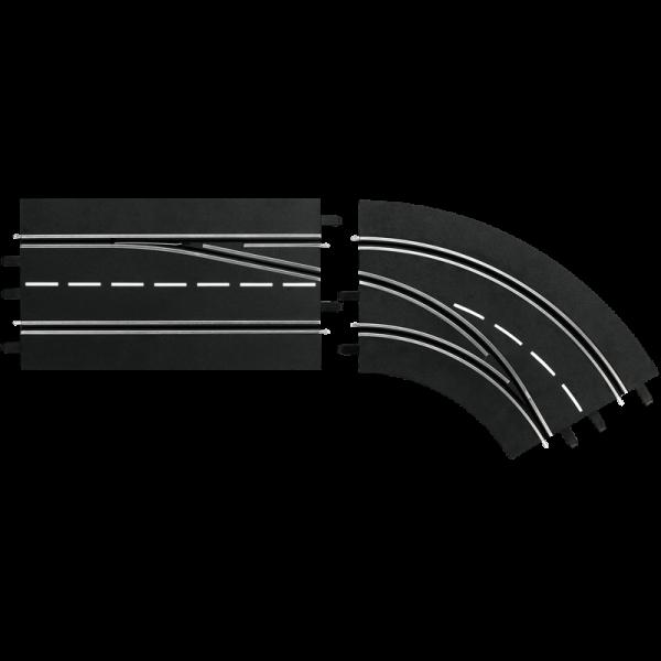 Spurwechselkurve rechts, außen