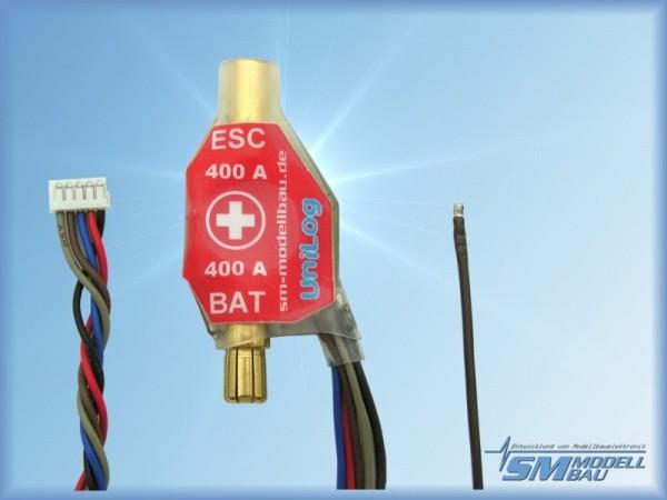 UniLog Stromsensor 400 A mit 6 mm LMT Gold (für Ak