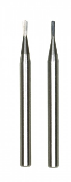 Harmetall-Fräsbohrer, je 1 Stück 0,6 und 0,8 mm