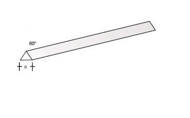 Plastikprofil-3kant/60 330x3,0