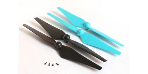 Hauptrotorblätter blau/schwarz GV6 4St.