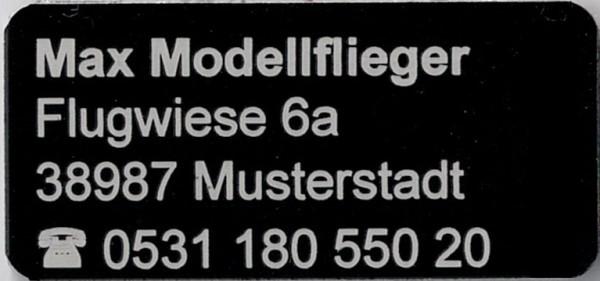 Kennzeichnungs Schild Dura Black 32 x 15 mm