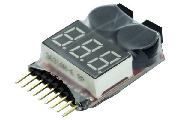 LiPo-Checker - 1-8s - im Schrumpfschlauch