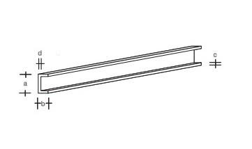Plastik-U-Profil 330x2,5x1,2