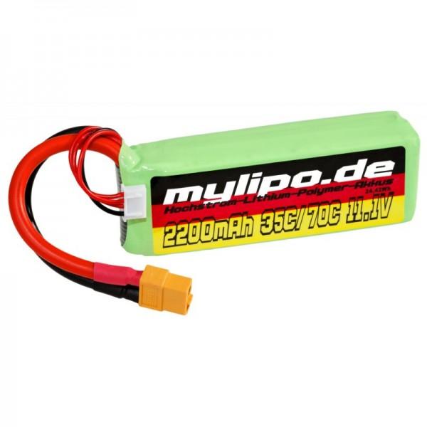 mylipo 2200mAh 3s 11,1V 35C/70C XT60