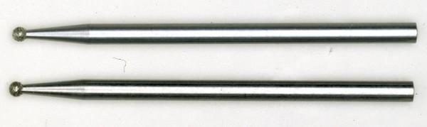 Diamantschleifstifte, Kugel, 1,0 mm, 2 Stück