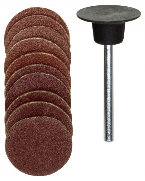 Gummiteller, 18 mm, je 5 Scheiben K 120 + K 150