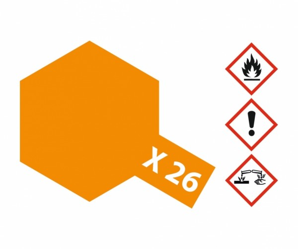 X-26 Klar-Orange glänzend 23 ml