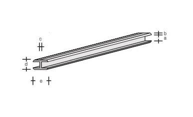 Plastik-Verbinder-Profil 330x1,0