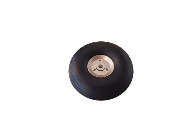 Ballon-Räder mit Alu-Felge 51 x20mm 4mm Achsen.