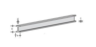 Plastik-H-Profil 330x3,0x1,5
