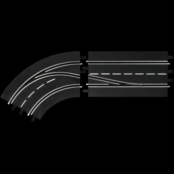 Spurwechselkurve LINKS, innen