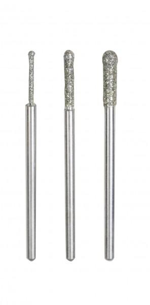 Diamant-beschichtete Schleifstifte, Kugel Ø 1,2 mm