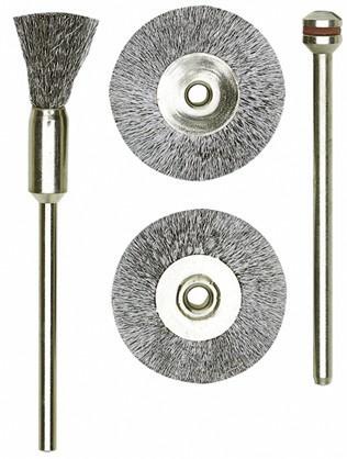 Pinselbürsten Stahl, 8 mm, 2 Stück