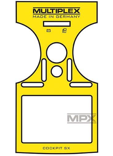 Dekorbogen Cockpit SX 7/9 gelb