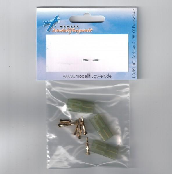 Tamiya Mini 3 Stk Stecker (Akkuseitig)