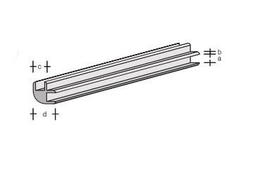 Plastik-Eckverbinder-Profil 330x2,0
