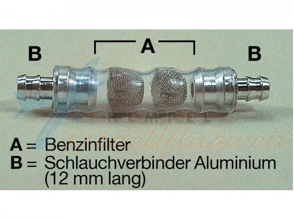 Benzin-Filter mit zwei Mikrosieben ab 4 mm