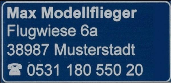 Kennzeichnungs Schild Blau 31 x 15 mm